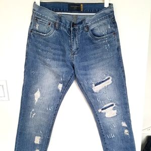 Dolce & Gabbana 14 gold jeans distressed size 31